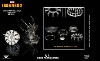 KING ARTS MPS032 MOVIE PROPS SERIES 1/1 IRON MAN 2 MARK 3 ARC REACTOR DIE CAST
