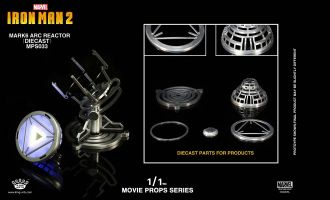 KING ARTS MPS033 MOVIE PROPS SERIES IRON MAN 2 MARK 6 ARC REACTOR DIE CAST