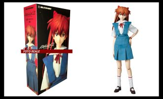 MEDICOM RAH502 EVANGELION 2.0 ASUKA LANGLEY UNIFORM VERSION