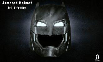 BRETOYS BATMAN V SUPERMAN BATMAN ARMORED HELMET LIFE SIZE