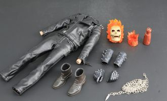 CARVE ART CA006-C 1/6 GHOST RIDER SKULL HEAD AND COSTUME SET