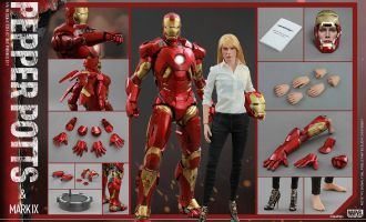 HOT TOYS MMS311 IRON MAN 3 PEPPER POTTS & MARK