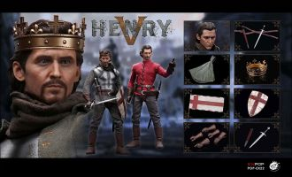 "POPTOYS EX22-A King Henry V of England with two heads The Hollow Crown Tom"" Hiddleston"