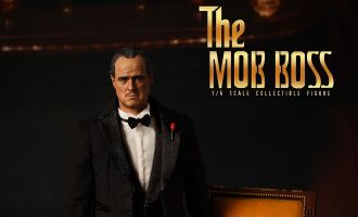PRESENT TOYS PT-SP05 The Godfather Il Padrino Collector's doll black boss