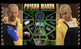 PRESENT TOYS PT-SP26 BREAKING BAD WALTER & JESSE DOUBLE SUIT POISON MAKER BANNER