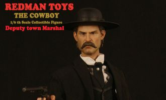REDMAN TOYS RM019 THE COWBOY KURT RUSSELL AS WYATT ERP DEPUTY TOWN MARSHAL TOMBSTONE