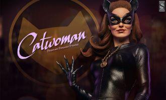 SIDESHOW STATUE PREMIUM FORMAT BATMAN CATWOMAN CLASSIC TV SERIES