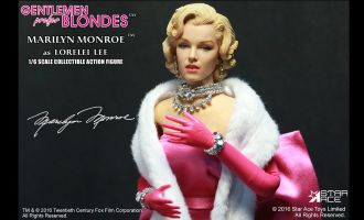 STAR ACE STAC0016 GENTLEMEN PREFER BLONDES MARILYN MONROE PINK DRESS AS LORELEI LEE