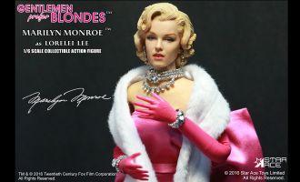 STAR ACE STAC0016 GENTLEMEN PREFER BLONDES MARILYN MONROE PINK DRESS AS LORELEI LEE
