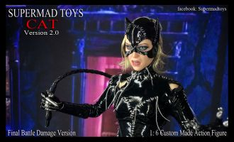 SUPERMAD TOYS CAT VERSION 2.0 CATWOMAN FINAL BATTLE DAMAGED VERSION