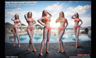 TBLeague 1/6 PHMB2019 S32A Super Flexible Female Seamless Body Pale Medium Breast Size