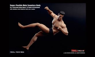 TBLeague PH2019-TM02A 1/12th Scale Super Flexible Male Seamless Body Including head