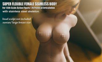 TBLeague PLLB2017-S21B SUPER FLEXIBLE FEMALE SEAMLESS BODY SUNTAN LARGE BREAST SIZE