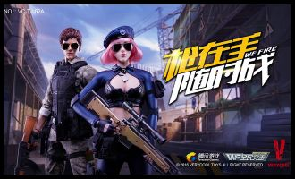 VERYCOOL VC-TJ-02A NATIONAL ASSAULT SERIES SNIPER LITTLE SISTER PINK HAIR