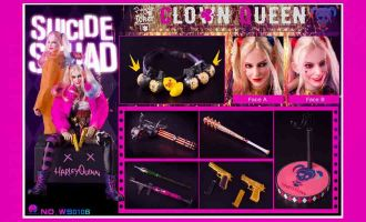 War Story WS010-B Clown Queen Action Figure deluxe edition Suicide Squad Harley Quinn Banner