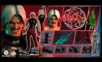 World Box KF101 The King Of Fighters RUGAL Collectible Figure Banner