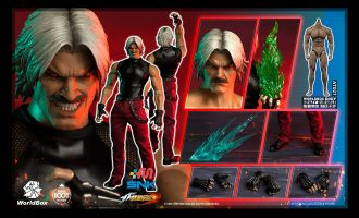 World Box KF102 The King Of Fighters RUGAL Collectible Figure Banner
