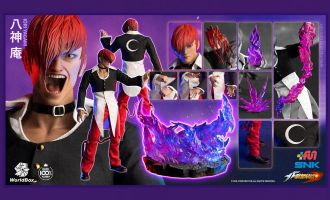 WorldBox KF100 The King Of Fighters Iori Yagami Deluxe Collectible Figure