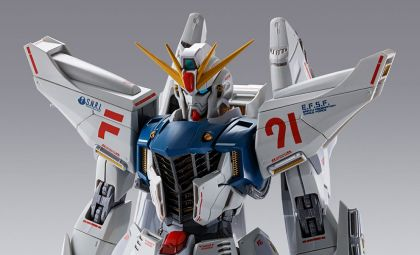 BANDAI METAL BUILD GUNDAM F91 CHRONICLE WHITE BANNER