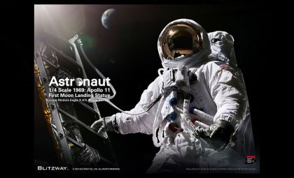 BLITZWAY BW-SS-21101 ASTRONAUT APOLLO 11 LM-5 A7L VER SUPERB SCALE STATUE BANNER