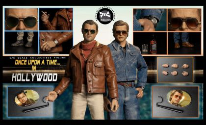 DJCUSTOM NO-16005 Hollywood time (Double time ONCE UPON A TIME IN HOLLYWOOD BANNER