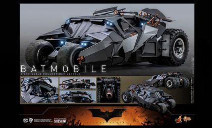 HOT TOYS MMS596 BATMAN BEGINS BATMOBILE 1/6 SCALE COLLECTIBLE VEHICLE BANNER