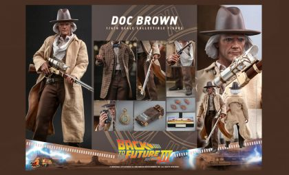 HOT TOYS MMS617 DOC BROWN BACK TO THE FUTURE PART III Action Figure Banner