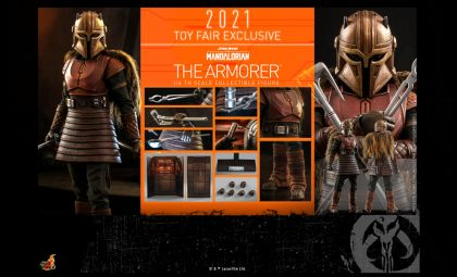 HOT TOYS TMS044 The Armorer Star Wars The Mandalorian Banner
