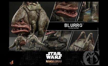Hot Toys TMS045 Star Wars The Mandalorian Action Figure Blurrg Banner