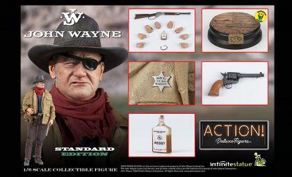 Infinite Statue JOHN WAYNE 1/6 ACTION FIGURE Kaustic Plastik Standard Version BANNER