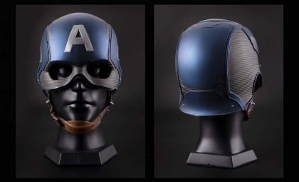 KB MST6002 1/1 Captain America helmet wearable collection banner