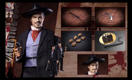PRESENT TOYS PT-SP25 Doc Holliday Legendary Gunner Tombstone Banner