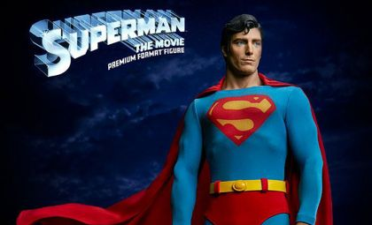 Sideshow Collectibles Superman Premium Format Figure Superman The Movie Banner