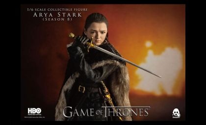 Threezero 3Z0143 Game of Thrones Action Figure 1/6 Arya Stark banner