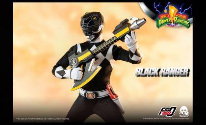 Threezero 3Z0197 Mighty Morphin Power Rangers FigZero Black Ranger Banner