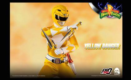 Threezero 3Z0198 Mighty Morphin Power Rangers FigZero Yellow Ranger Banner