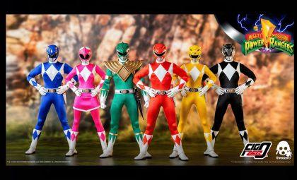 Threezero 3Z0310CB Mighty Morphin Power Rangers Six-Pack 1/6 action figures Banner
