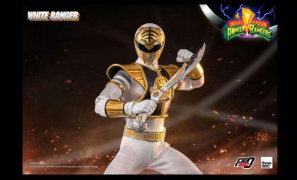 Threezero Mighty Morphin Power Rangers FigZero White Ranger Banner