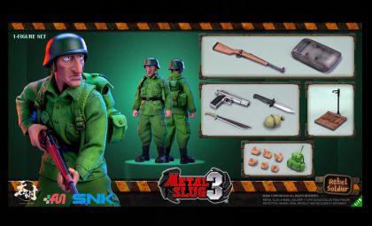 TUNSHI STUDIO 1/12 METAL SLUG III REBEL SOLDIER 1 FIGURE 1/12 SET SNK BANNER