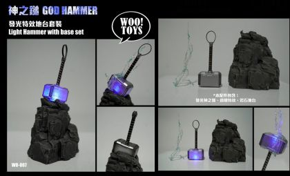 Woo Toys WO-007 1/6 God Hammer light hammer set with base Thor BANNER