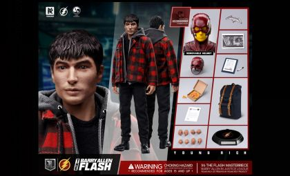 YOUNGRICHTOYS YR014 The Barry Allen Flash 1/6 Justice League Banner
